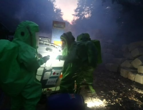 Gefahrgut-Übung der FF Berglen und Winnenden mit Unterstützung des DRK Rems-Murr am 20.10.2018