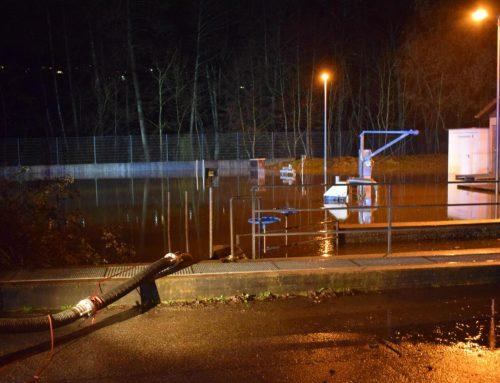 Einsatz 02/2019 – 13.01.2019 –  Hochwasser in der Kläranlage