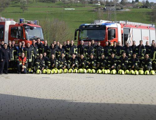 Hauptübung der Feuerwehr Berglen am 06.04.2019