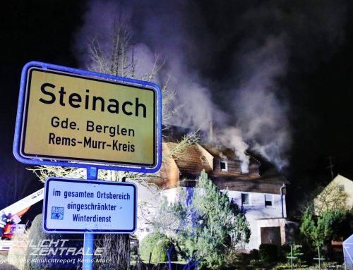 Einsatz 008/2021 – Wohnungs-/ Gebäudebrand Steinach
